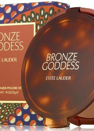Бронзирующая пудра с сиянием estee lauder bronze goddess powder bronzer тестер