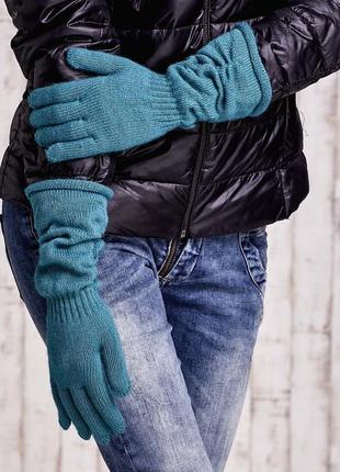 17-165 довгі в'язані рукавички длинные вязанные перчатки