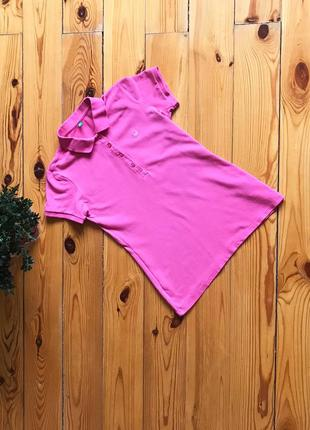 Классное яркое поло polo футболка от benetton, xs