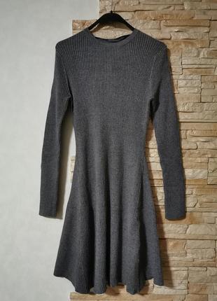 Мягкое платье рельефной фактуры, в рубчик