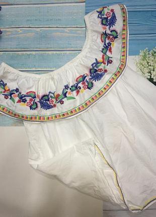 Вышиванка блуза с воланом-l,xl.