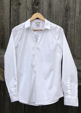 Белая классическая рубашка h&m