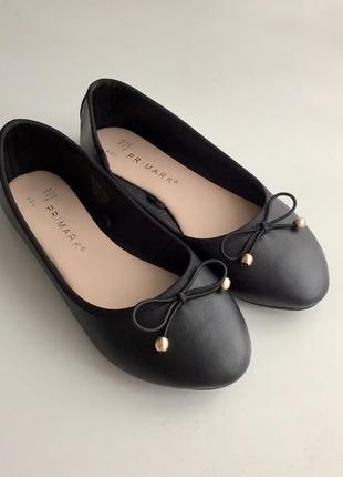 Чёрные балетки от primark 36 размера