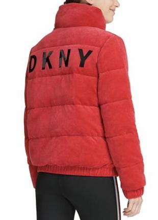Велюровая куртка пуховик dkny оригинал