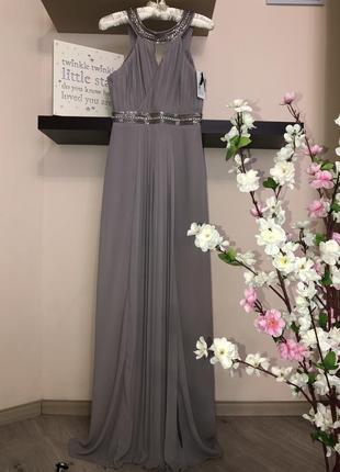 Шикарное длинное вечернее платье, нарядное платье, платье на выпускной,