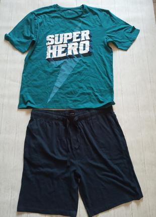 Новая мужская пижама, домашний костюм reserved, р.xl