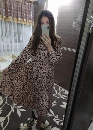 Платье с принтом юбка плиссированная