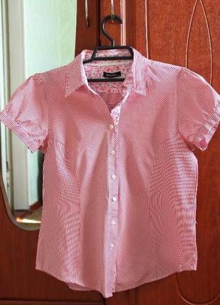 Женская полосатая блуза или же рубашка в цветочный принт