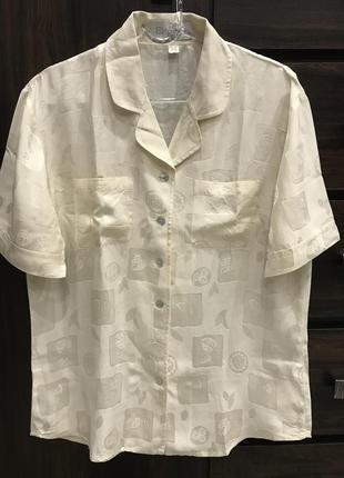 Шелковая блуза eleganse, размер 36, s-m.