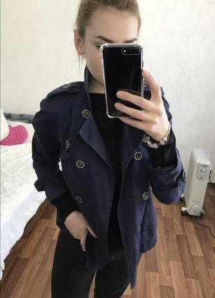 Синий тренд пальто плащ 🧥 куртка ветровка жакет 💙