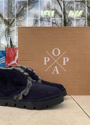 Женские зимние ботинки popa оригинал италия натуральная замша мех