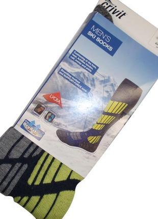 Мужские лыжные зональные высокие носки гольфы с шерстью бренд crivit германия р. 41-44