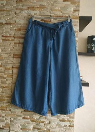 Стильные кюлоты джинсв укороченные бриджи