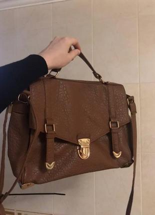 Идеальная коричневая сумка-портфель
