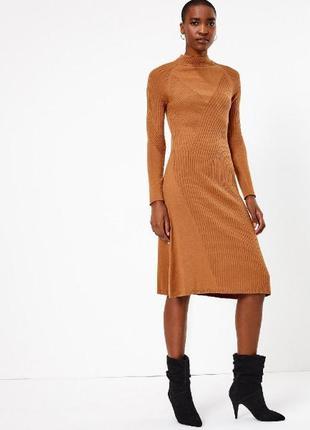 Шерстяное платье миди, шерсть +вискоза autograph