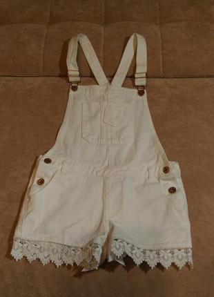Белый джинсовый ромпер denim, комбинезон, 11-12лет