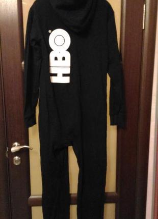 Тёплый кигуруми, пижама, костюм комбинезон для дома hbo размер l