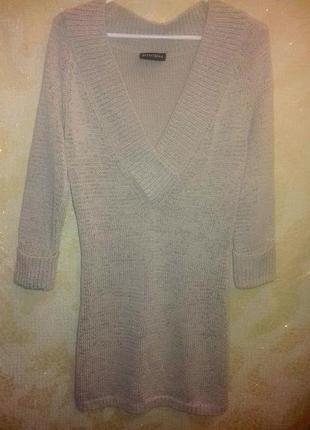 Длинный свитер, кофта, туника .рукав 3/4 principles petite размер м