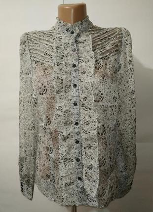 Блуза красивая нежная легкая жабо monsoon uk 12/40/m