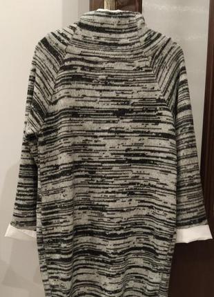 Тепле зимове плаття (туніка) вільного крою2 фото