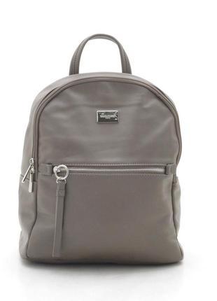 Новый женский городской серо-коричневый рюкзак