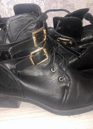Стильные сапоги , ботинки под кожу mohito
