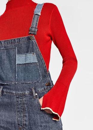 Фирменный джинсовый комбинезон zara мам