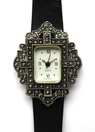 Avon винтажные часы из сша кожаный ремешок мех. japan morioka tokei
