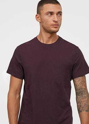 Оригинальная футболка-slim fit от бренда h&m разм. xl