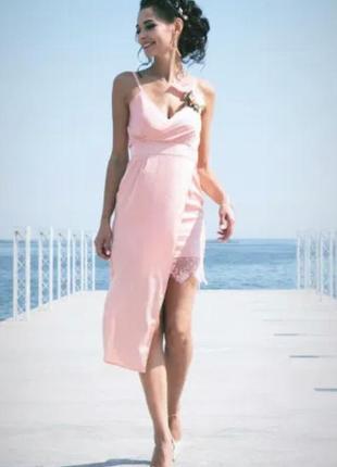 Шелковое платье1 фото