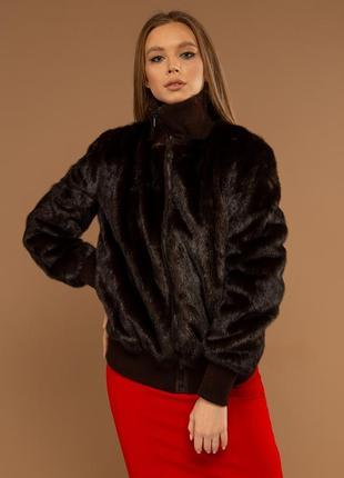 Норковая куртка шуба норковый бомбер куртка норковый полушубок италия!