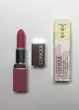 Помада clinique pop lip colour and primer 09 sweet  pop.