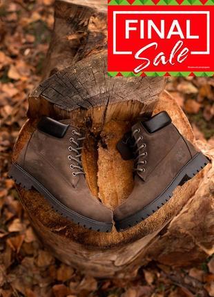 Оригинальные зимние ботинки. timberland 6-inch. хаки/коричневые, меховые. 28 цветов