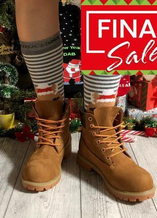 Original! классические термо ботинки timberland 6 in premium rust темно рыжие