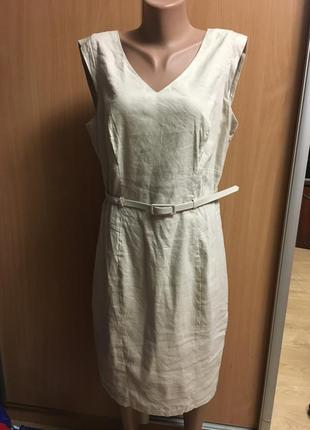 Платье классические лее/вискоза на подкладке размер 16