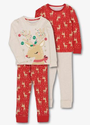 "Набор пижамок ""оленята"", 2 шт. в уп., tu, англия"