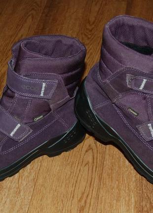 Зимние ботинки на мембране 38 р ecco goretex хорошее состояние