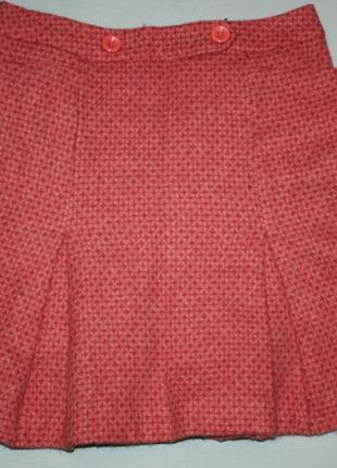 Твидовая шерстяная фирменная юбка tara jarmon - французский бренд,р-36 состояние новой