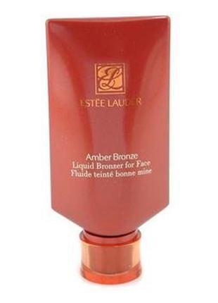 Бронзирующая сияющая тональная основа estee lauder amber bronze bronzing