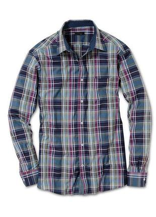 Рубашка  мужская в клетку  tcm tchibo германия