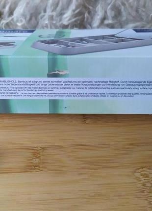 Шкатулка бамбук для ювелирных изделий / для мелочей с зеркалом3 фото