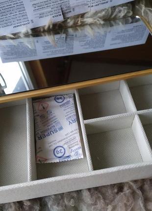 Шкатулка бамбук для ювелирных изделий / для мелочей с зеркалом5 фото