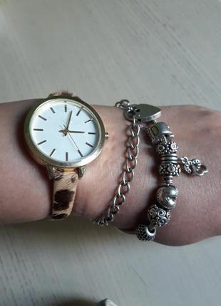 Леопардовые часы ,натуральная кожа