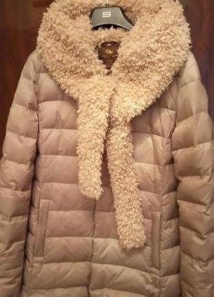 Натуральный пуховик. зимняя куртка.