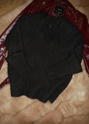 Теплющий ворсистый шерстяной свитер