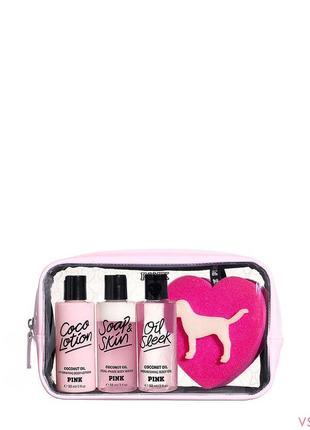 Дорожный набор victoria's secret pink