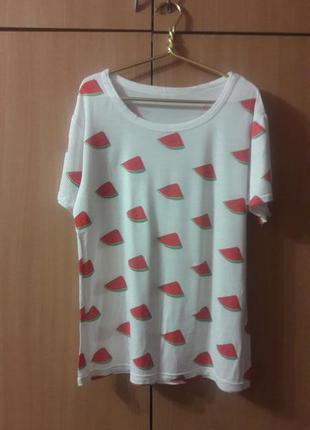 Белая футболка с арбузиками