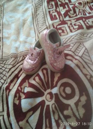 Кросівки для дівчинки з led -підошвою, 13 см