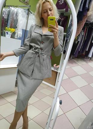 Стильный, красивый, женственный юбочный костюм наш 44-46 размер