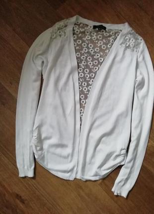 Кофта с кружевом, кардиган, полувер, джемпер, свитер, пиджак, кардиган